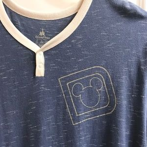 Walt Disney Mickey Mouse Shirt Blue 2X XXL Plus Si